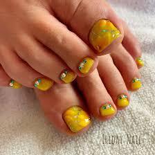 春夏フットフラワー3d Iriday Nailのネイルデザインno4199438