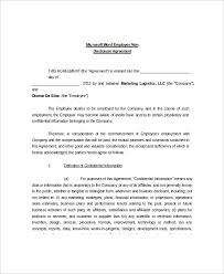 confidentiality agreement template 8 non disclosure and confidentiality agreement templates free