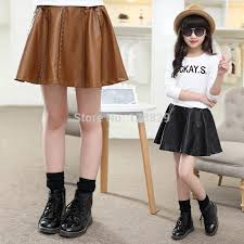 teenage kids pu skirts for girls children clothing faux leather tutu skirts spring autumn winter party skirts 6 8 10 12 14 years jpg