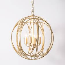 luxurious modern chic gold sphere 3 lights 4 lights iron orb chain suspended chandelier