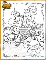 Animal Jam Phantom Fortress Coloring Page Hanna Animal Jam