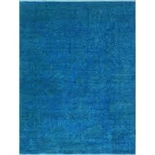 rug blue overdyed wool