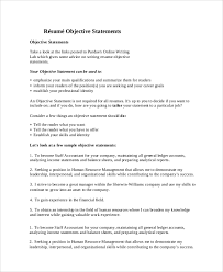 Sample Resume Objective Statements Interesting 60 Sample Resume Objective Statements Sample Templates