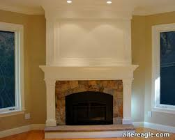 crown molding fireplace home design plan