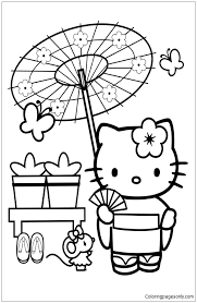 Small Picture Hello Kitty In Japan Coloring Page Free Coloring Pages Online