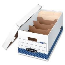 Paper filing boxes Ikea Bankers Box Rkive File Storagemoving Divider Box fel0083101c Letter Whiteblue Online Only Best Buy Canada Bankers Box Rkive File Storagemoving Divider Box fel0083101c