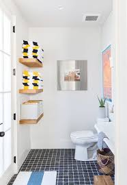 toilet facing stacked wooden floating