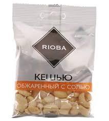 Ядра <b>кешью</b> RIOBA <b>жареные</b> с солью 50 <b>г</b> 6 шт купить с ...