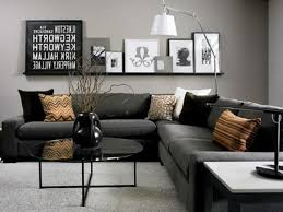 Superb Grey Living Room Ideas With Feature Wall Simply Black And Dark Grey  Living Room Furniture