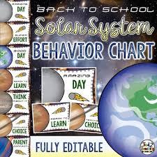 Solar System And Space Classroom Decor Behavior Chart Editable