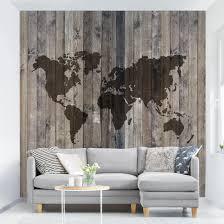 Tapete Selbstklebend Holz Weltkarte Fototapete Quadrat