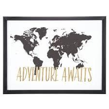 adventure awaits framed wall decor
