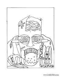 Small Picture Halloween Coloring Pages Free Printable Scary Inside Online
