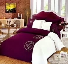 olive king size cotton print pattern purple duvet covers