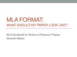 Ppt Mla Format What Should My Paper Look Like Powerpoint
