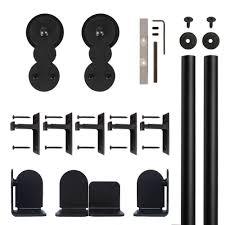 quiet glide circles black rolling door hardware kit for 1 1 2 in