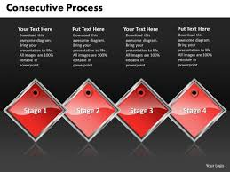 Ppt Black And Red Powerpoint Templates Diamond Consecutive