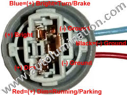 automotive car truck light bulb connectors sockets wiring 3157 type 3 pigtail bulb socket connector wiring plan
