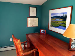 blue home office wall. home office paint colours colors 5421 blue wall