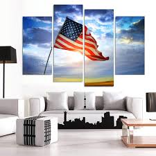 fascinating american flag painting 4 piece modern wall oil painting flag home decor art picture for fascinating american flag painting