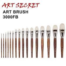 high quality paint art brushes oil painting brush 3000fb professional interlocked chungking white bristle long oak
