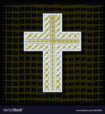 orthodox christian cross background vector image
