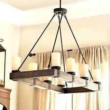 rustic metal chandelier 8 light rectangular unitary barn