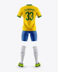 Aquí les comparto este pack de jersey. Men S Full Soccer Kit Mockup Back View In Apparel Mockups On Yellow Images Object Mockups Shirt Mockup Soccer Kits Clothing Mockup