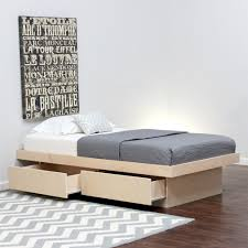 platform bed drawers in modern style  bedroom ideas