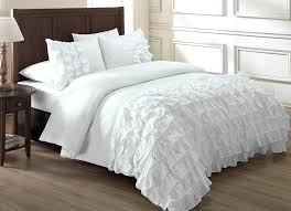 white ruffle duvet cover twin xl chezmoi collection ella 3 piece waterfall ruffle duvet cover set