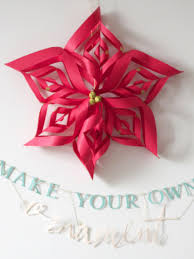 Paper Decorations Christmas Make A Paper Snowflake Star Christmas Ornament Hgtv