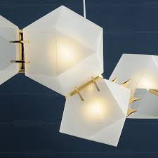 welles glass chandelier