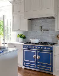 La Cornue Kitchen Designs Extraordinary Blue La Cornue CornuFé Navy Blue Range In A White Kitchen