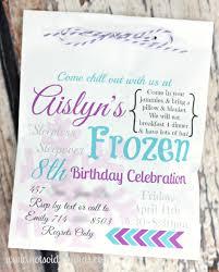 frozen birthday party invitation com frozen birthday party invitation how to make your own birthday invitations using word 15