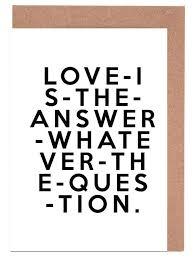 Love Is The Answer als Grußkartenset von Honeymoon Hotel | JUNIQE