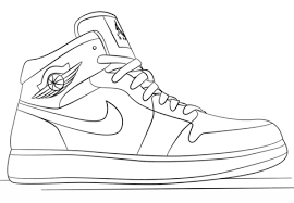 Small Picture Nike Jordan Sneakers coloring page Free Printable Coloring Pages