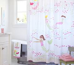 cool shower curtains for kids. Plain Shower Mermaid Shower Curtain Pottery Barn Kids Intended For Kid Bathroom Decor 5 To Cool Curtains R