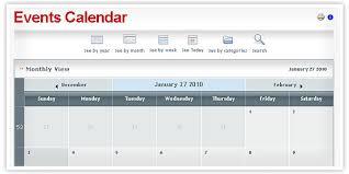 Calendar Templates For Websites Free Calendar Website Template