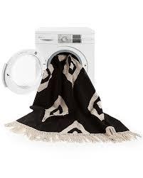 lorena cs machine washable runner rug black and white diamonds 100 cotton