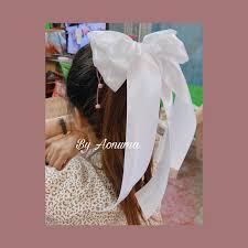 รุ่นโบว์ขาวจัมโบว์... - โบว์ติดผม โบว์ผูกผมแฟชั่น ริบบิ้นผ้า งานแฮนด์เมด By  Aonuma เริ่มต้น 10 บาท