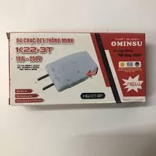 Ba chạc dẹt thông minh OMINSU chịu tải 2200W chia 1 ổ điện làm 3 ổ cắm  (phích cắm chia 3) - Ổ cắm điện