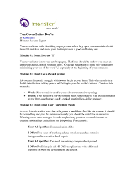 Monster Cover Letter As Letters Accomodationintuscany Org
