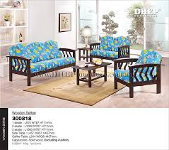 Wooden Sofa Set With Cushion Wooden Settee Set Sofa Set With