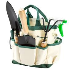 pure garden 8 25 in garden tool and tote set 8 piece