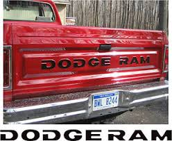 81-93 DODGE RAM FULL SIZE PICKUP TRUCK TAILGATE LETTERS DECALS ...