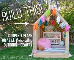 when you go to assemble the playhouse the wall will sit inside the gable end wall as shown above fun backyard playhouse plans diy backyard playhouse
