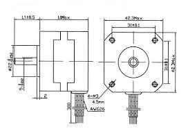 nema 17 stepper motor 4 2 kg cm 4 wire 42bygh4807 4 2 kg cm 58 3 oz in 4 wire nema 17 stepper motor