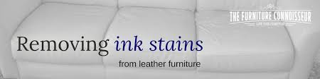 removing ink stains from leather furniture banner