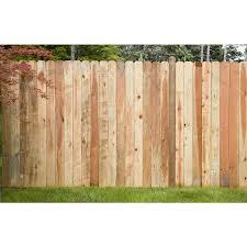 8 ft w redwood dog ear fence panel