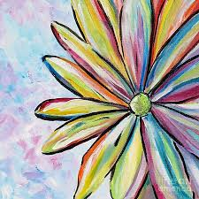 Crazy Painting Crazy Daisy Painting By Marilyn Healey